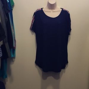 NWT Poof New York 2X navy blue short sleeved shirt